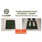 Tapete Desinfectante Estándar + Grama vende  Plastigoma S.A.S