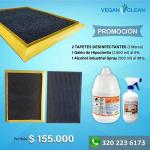 Kit - 2 Tapetes desinfectantes + 1 Galón de Hipoclorito + 1 Alcohol Industrial Spray vende  Veganos de mi Tierra S.A.S
