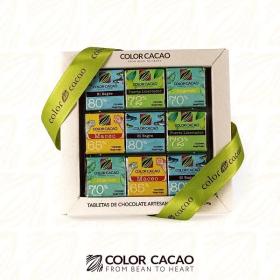 Caja x 18  de Tabletas origenes 5g 65%, 70%,72% y 80% de cacao. en  Agrofertas®