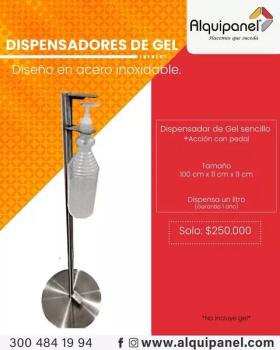 Dispensador de Gel en Acero Inoxidable en  Agrofertas®
