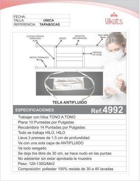 Tapabocas Ref 4992 en  Agrofertas®