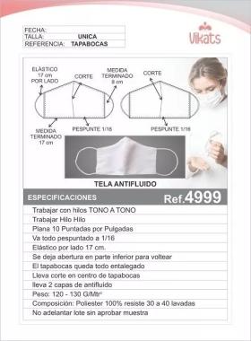 Tapabocas Ref 4999 en  Agrofertas®