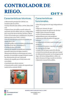 Controlador de riego en  Agrofertas®