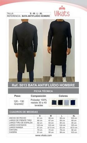 Bata Antifluidos Hombre en  Agrofertas®